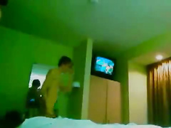 Bareback ass fucking session at a hotel