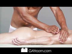 Dirty masseur fucks boy in mouth and makes him cum