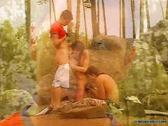 Drilling each others tight holes in the woods