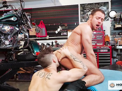 Sebastian and Brendan end fuck with cumshot