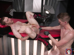 Big cock guys get holes messy and stretched