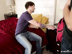 Scotty puts on condom and fucks Roman Todd