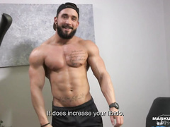 Zack shows his great muscular body