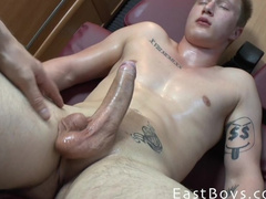 Young boy squeals in the expectation of cum