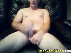 Gay is watching porn and wanking off cock