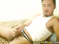 Asian boy feels the desire to get self release