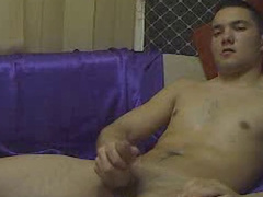 Young gay boy shows his ass and plays with cock