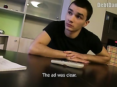 Adorably handsome teen guy invites the loaner and gets fucked by him